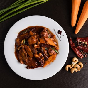 SLICED CHILLI CHICKEN WITH NUTS