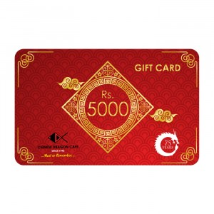 GIFT CARDS - Rs 5000