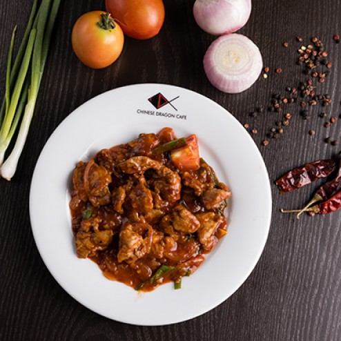 PORK IN SPICY RED SAUCE