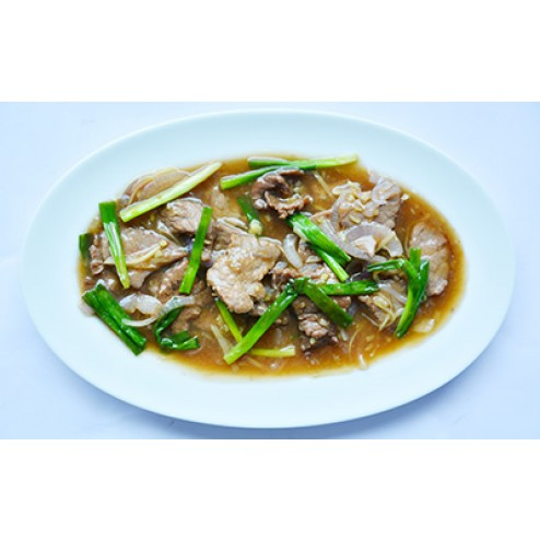 SLICED BEEF WITH SPRING ONION & GINGER