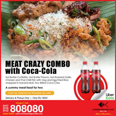 Meat Crazy (Rice) Combo with Coca Cola