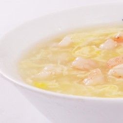 SWEET CORN SOUP WITH PRAWN