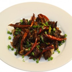 DRY RED CHILLI BEEF