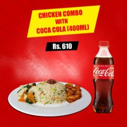 CHICKEN COMBO with COCA COLA