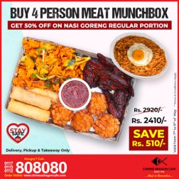 Munchbox(for 4) + 50% OFF Nasi Goreng(R)