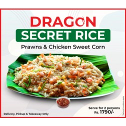 SECRET RICE, SHRIMP, CHICKEN & SWEET CORN